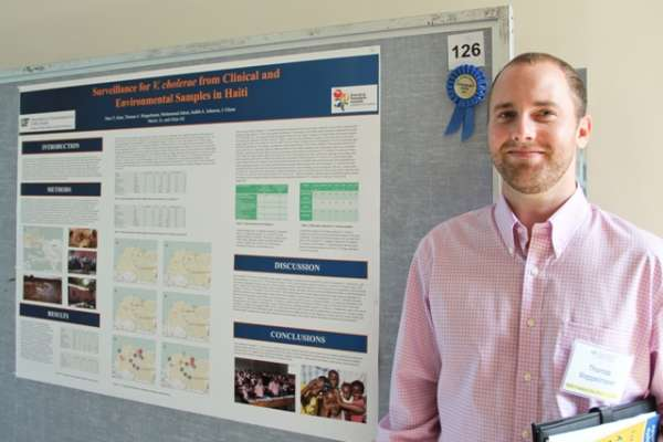 alex weppelmann with research poster