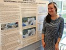 melissa valentine with research poster
