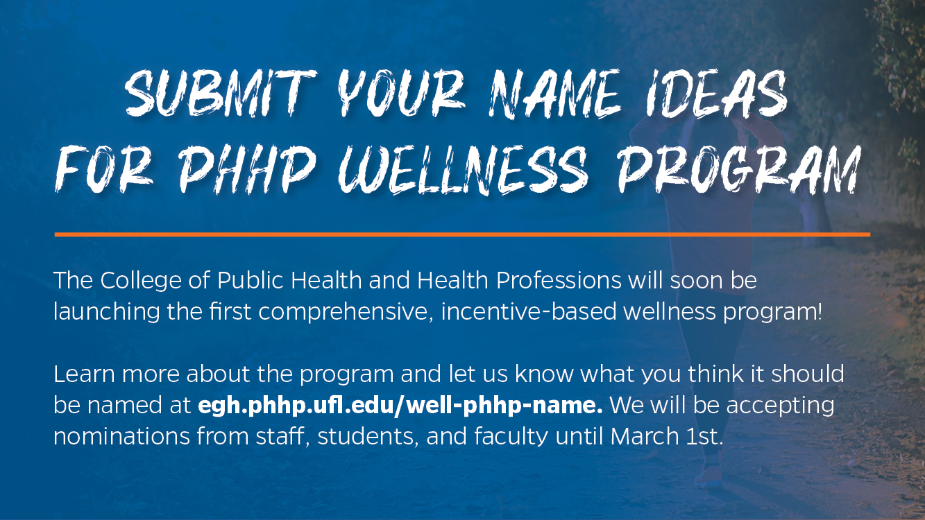 Wellness with PHHP Banner