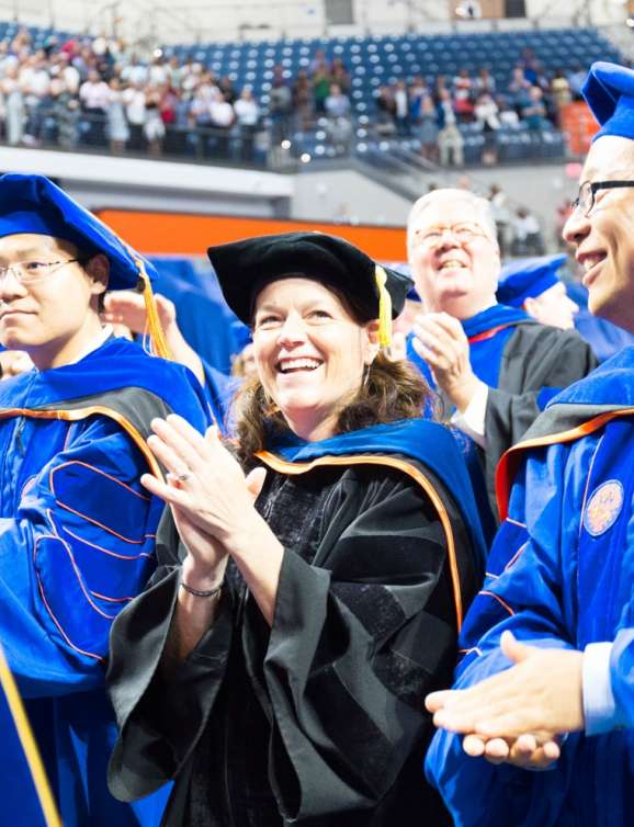 Dr. Sabo-Attwood and Hao Chen at Graduation